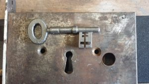 Antique warded church key