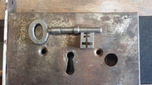 Antique warded church key